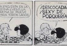 Mafalda ajedrez mueve la reina