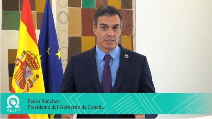 Pedro Sánchez en la inauguración telemática del 15º Congreso de la AEEP