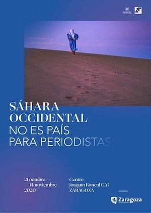 Cartel expo Sáhara Occidental periodistas