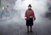 Ecuador protesta social Mujer de Cotopaxi 2019