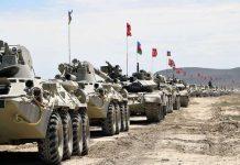 Maniobras conjuntas de militares turcos y azeríes