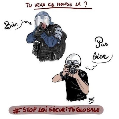 Francia seguridad global humor