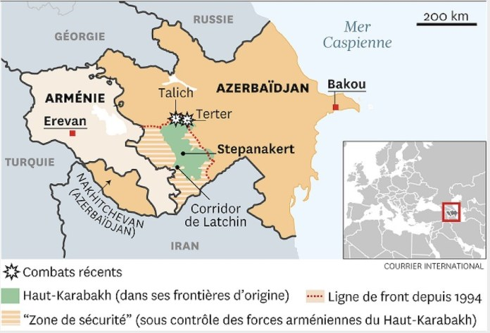 Corredor de Lachin entre Armenia y Stepanakert