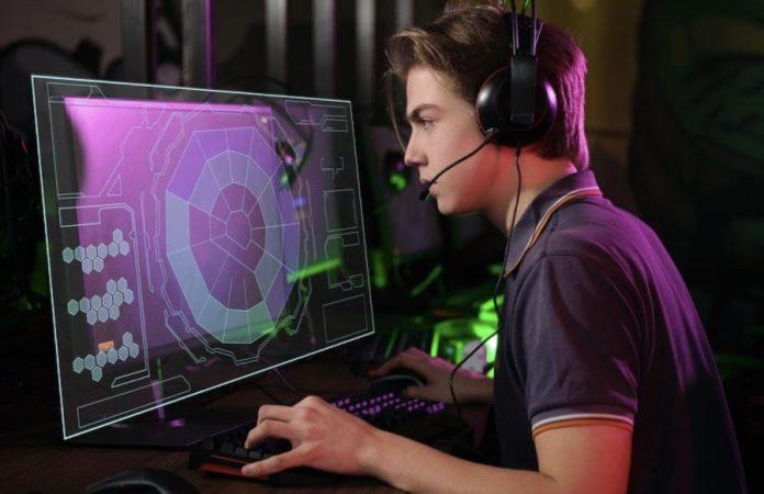 eSport jugador concentrado
