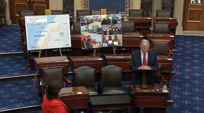 El senador republicano, Jim Inhofe, expone la situación en el Sahara en el Senado de Estados Unidos