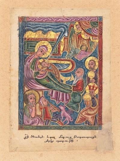 Natividad de Jesús, página recuperada para el Museo Getty