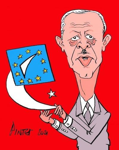 Erdogan, según el dibujante francés Patrick Pinter