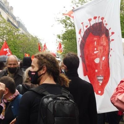 1MAY2021 Paris Macron caricatura