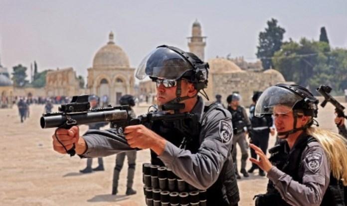 Policías israelíes en Jerusalén