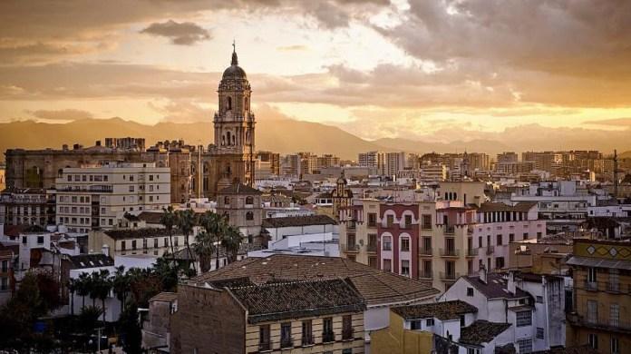 Málaga panorámica con catedral