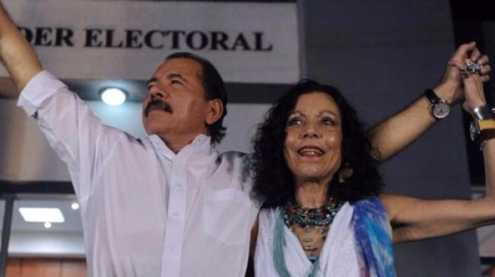 Daniel Ortega y Rosario Murillo en Nicaragua