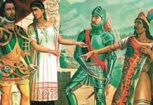 Encuentro entre Moctezuma y Hernán Cortes