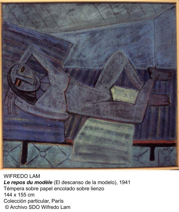 3.WIFREDO LAM-El descanso de la modelo