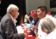 Encuentro de López Obrador con líderes indígenas