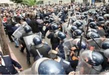 Una pasada intervención policial en el campus de Agadir.