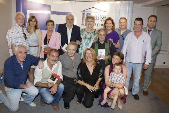 Foto de familia con los autores, presentadores y demás artífices de este XIV Taller
