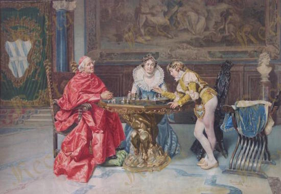 La partita a scacchi (1902) Micali Giuseppe
