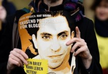 Protestas de Amnistía Internacional en favor de Raif Badawi