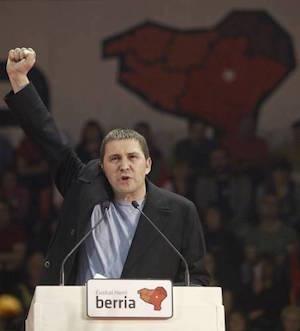 Arnaldo Otegui en un acto de la izquierda abertzale.