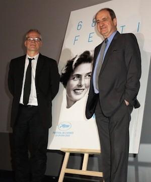 Pierre Lescure y su director artístico, Thierry Fremaux.