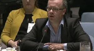 Christophe Doloire, secretario general de RSF, en la ONU