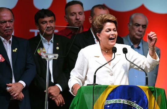 Dilma Rousseff tras ser reelegida presidenta de Brasil