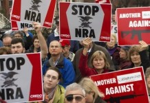 Protestas contra el comercio de armas en EEUU