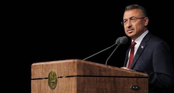 El vicepresidente de Turquía, Fuat Oktay durante su intervención en el XVIII Congreso de Historia de Turquía.