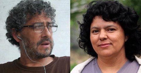 Gustavo Castro y Berta Cáceres