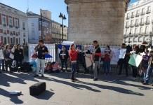 Protestas de ciudadanos hondureños residentes en España pro el fraude electoral en su país. 20180121