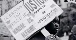 Lavapies, Madrid, protestas de manteros. FOT: Byron. Sindicato de Manteros y Latero