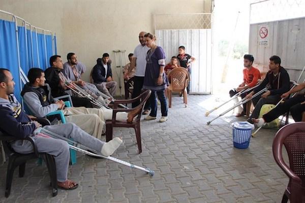 Consultorio de Médicos Sin Fronteras en Gaza