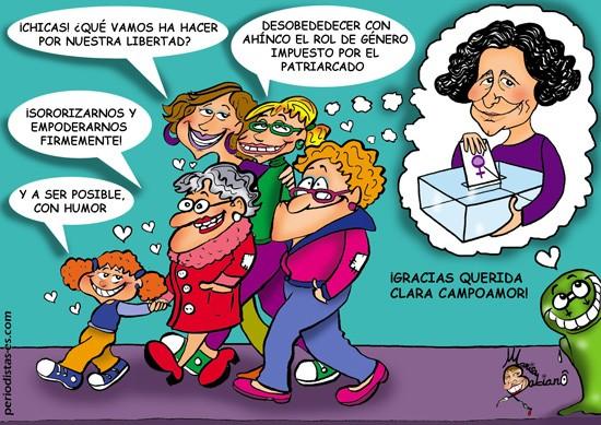 Agradecimiento a Clara Campoamor por su defensa de los derechos de las féminas.
