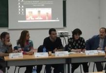"""Mesa de debate """"El empoderamiento ciudadano ante los procesos de manipulación mediática"""" organizada por el SPA-FeSP en el marco del I Congreso Internacional Comunicación y Pensamiento celebrado en Sevilla"""