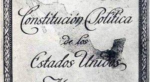Portada de la Constitución de México de 1917