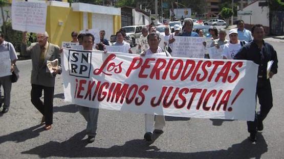 Periodistas mexicanos marchan contra la impunidad