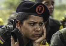 Entre un 40 y 50% de guerrilleros son mujeres, y esa cifra varía dependiendo el frente de guerra, según investigaciones independientes. Foto: ANDES/AFP