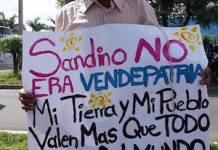 1-Campesinos se dirigen a la capital, Managua, para exigir que se pare la construcción.