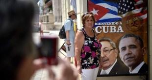 Carteles en La Habana de bienvenida a Barack Obama
