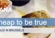 Portada del informe de Oceana sobre el fraude en el pescado ofrecido por restaurantes en Bruselas
