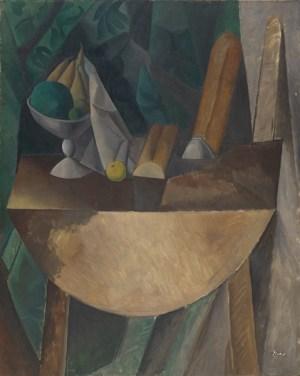 P. Picasso. Panes, frutero sobre mesa. 1909. Kunstm. Basel