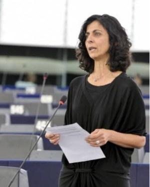 La eurodiputada socialista María Arena en defensa de las medidas de control