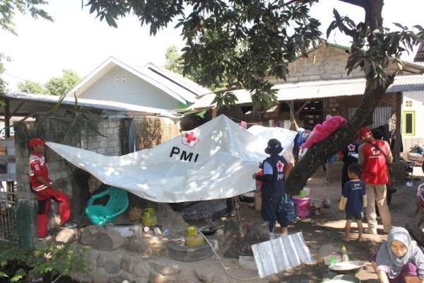Intervención del PMI en Indonesia, Lombok, en agosto de 2018