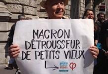 Paris contra Macron 5MAY2018 les petits vieux