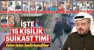 Portada del diario Sabah turco en la que se ven identificados los 15 sospechosos