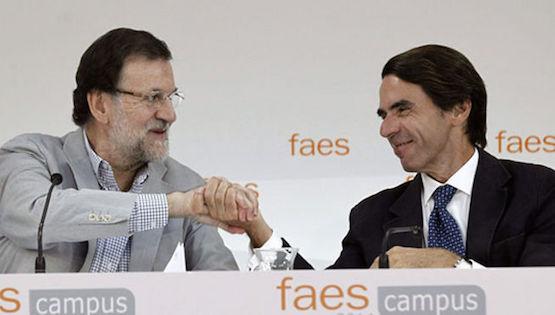 Rajoy-Aznar-FAES-Catalunya