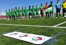 Selección del Sáhara antes de un partido