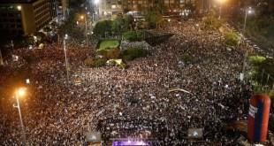 Manifestación en Israel contra el proyecto de un estado nación judío
