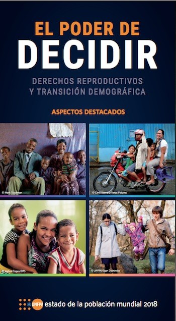 UNFPA informe 2018 portada