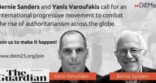 Sanders y Varoufakis piden una internacional progresista contra Donald Trump